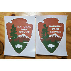 National Park Service NPS Decal Stickers - Two (2) per lot WATERPROOF
