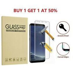 Kyпить 2-Pack Full Cover Tempered Glass Protector F Samsung Galaxy S8 S9 Plus Note 8 S7 на еВаy.соm
