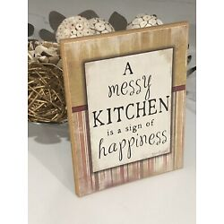 Hand Painted Wooden Canvas - Kitchen Quote!