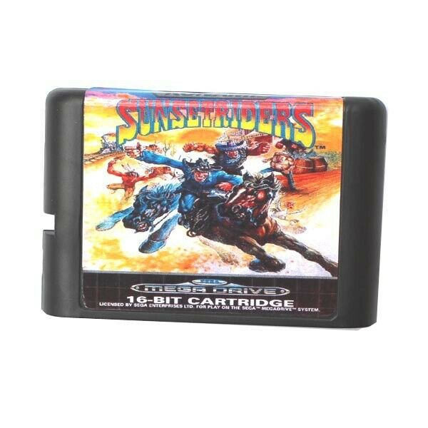 Sega Mega Drive Sunset Riders Game Cartridge