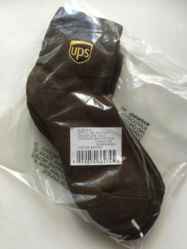 Three Pair ~ANKLET Socks~ Size Men S (6-8) United Parcel Service UPS Accessory
