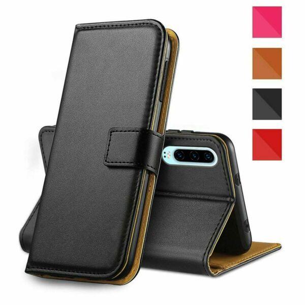 Wallet Style Leather Flip Cover with Magnetic Closure for Huawei P30 Lite Pro
