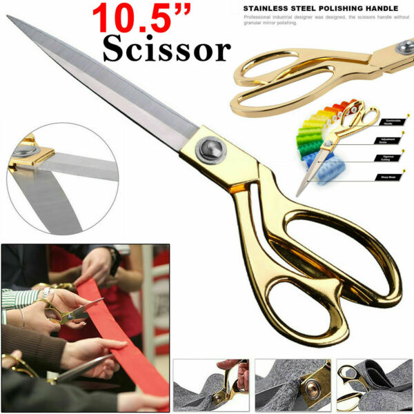 """TAILORING SCISSORS STAINLESS STEEL DRESSMAKING SHEARS FABRIC CRAFT CUTTING 10.5"""""""