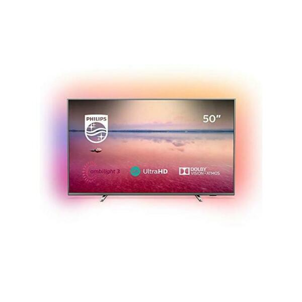Philips 50PUS6754 Tv Led 50'' 4K Ultra Hd Smart Tv Wi-Fi Ambilight Argento