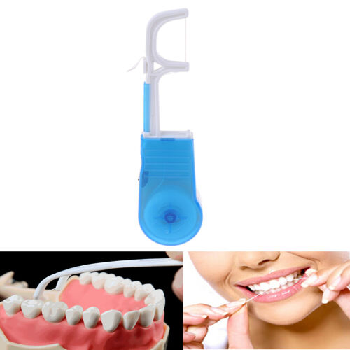Blue portable clean high dental floss holder oral care tooth cleaner flossersTJH