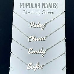 Kyпить ANY Name Plate Necklace Personalized Custom Sterling Silver 925 Pendant Gift  на еВаy.соm