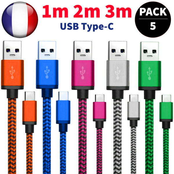 CABLE USB TYPE C CHARGEUR SAMSUNG S8 S9 S10 A8 Note8 HUAWEI P20 PRO P10 P30 Lite