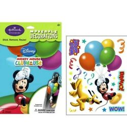 DISNEY MICKY MOUSE PLUTO Lot of 4 Decals Room Decor Stickers Birthday Decoration