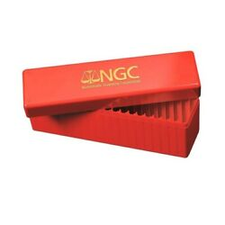 Kyпить NGC Official Red Plastic Slab Coin Box Hold 20 Certified Graded Coins Storage на еВаy.соm