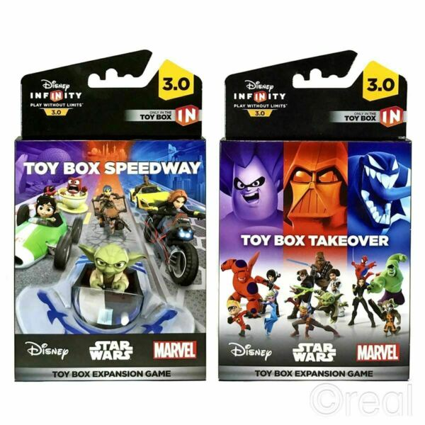 Disney Infinity 3.0 TOY BOX TAKEOVER or SPEEDWAY EXPANSION Game Official