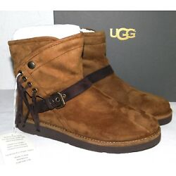 Kyпить NEW WOMENS 8 UGG KARISA 1009251 BRUNO SHORT FRINGE SUEDE SHEARLING BOOTS ITALY на еВаy.соm