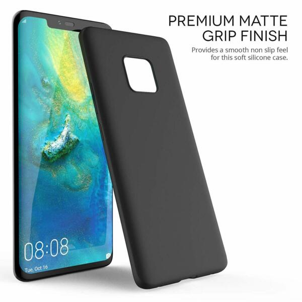 Coque Protection Housse Etui silicone noir mat pour HUAWEI MATE 20 PRO