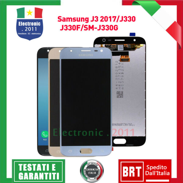 SCHERMO LCD TOUCH SCREEN PER SAMSUNG GALAXY J3 2017 J330 SM-J330FN DISPLAY VETRO