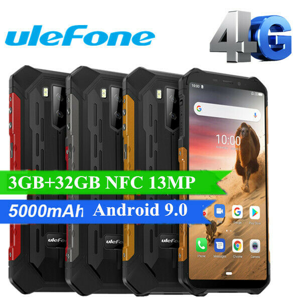 Impermeabile Android 9.0 5000mAh 5.5'' Ulefone Armor X5 4G Smartphone Cellulare