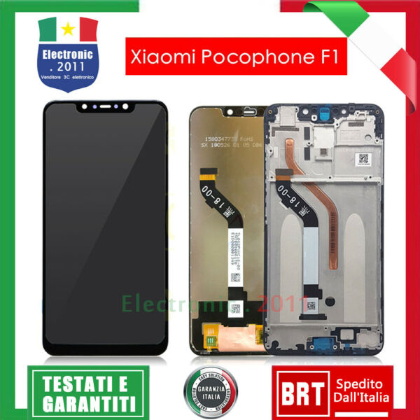 LCD + TOUCH SCREEN DISPLAY ORIGINALE PER XIAOMI POCOPHONE POCO F1 VETRO SCHERMO