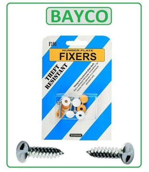 Reg Plate Fixing Fitting Kit Screws. Vehical. Anti-theft headed with screws.