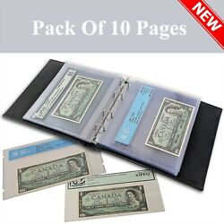 Kyпить Lighthouse Graded Certified Currency Album 10 Refill Pages Clear Pocket PMG PCGS на еВаy.соm