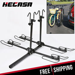 Kyпить 4-Bike Platform Style Bicycle Rider Hitch Mount Carrier Rack Sport Receiver 2