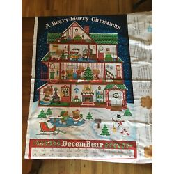 Kyпить A Beary Merry Christmas Advent Calendar Fabric - Brand New - Unfinished на еВаy.соm
