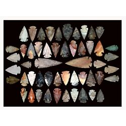 Kyпить 50+ stone arrowheads/spearheads Large 3-3 1/2 inches small 1-2 inches Awesome на еВаy.соm
