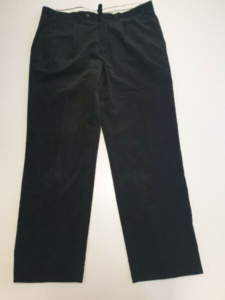 M590 MENS MARKS & SPENCER TAILORING 3422 946 BLACK TAPERED TROUSERS W36 L31