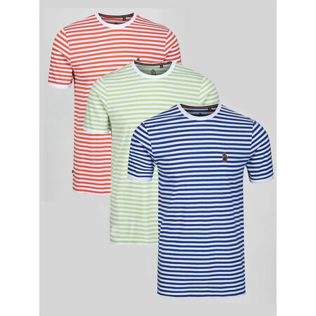 img-Luke 1977 Mens ZUCCI STRIPE Cotton Crew Neck Stripe T-Shirt