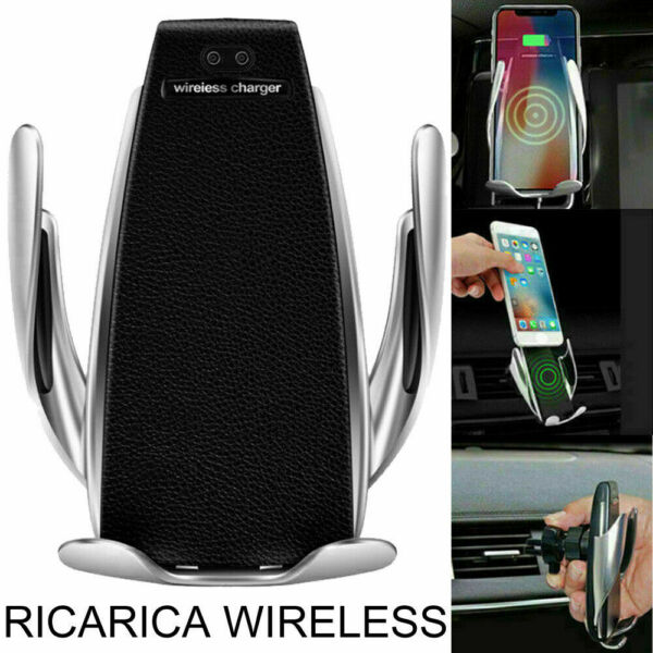 Car Wireless Charger Smart Sensor caricatore wifi auto con bloccaggio automatico