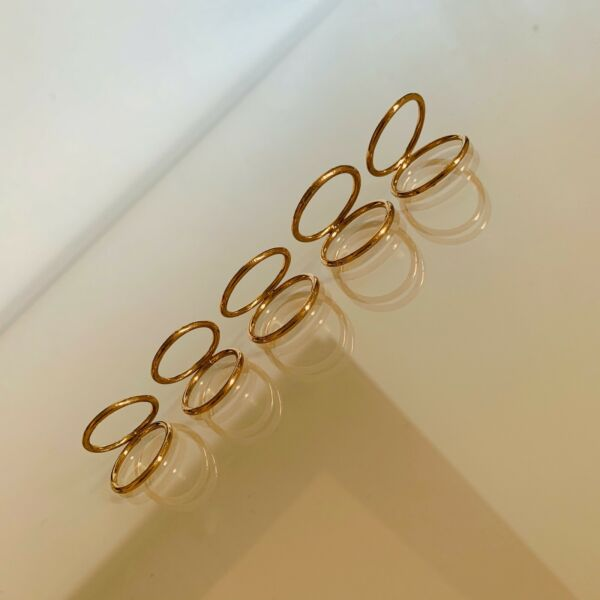 Topshop Gold Stackable Rings.