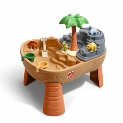 Step2 Dino Dig Sand and Water Play Table, Kids Boys Dinosaur Outdoor Activity
