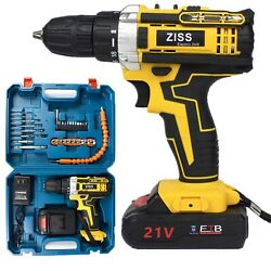 Kyпить 21V Electric Drill Cordless Electric Screwdriver Drill Set 30pcs with Battery US на еВаy.соm