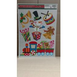 Holiday Theme Static Cling Window Decorations, 16'' X 11''