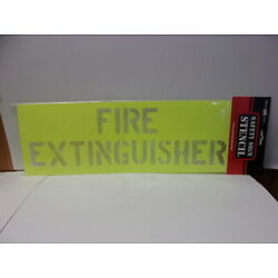 Fire Extinguisher Reusable Plastic Wall Brush/Spray Paint Safety Sign Stencil 65