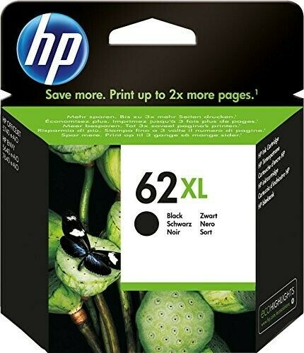 ORIGINALE HP 62XL NERA C2P05AE  ALTA CAPACITA' CARTUCCIA ORIGINALE PER HP Office