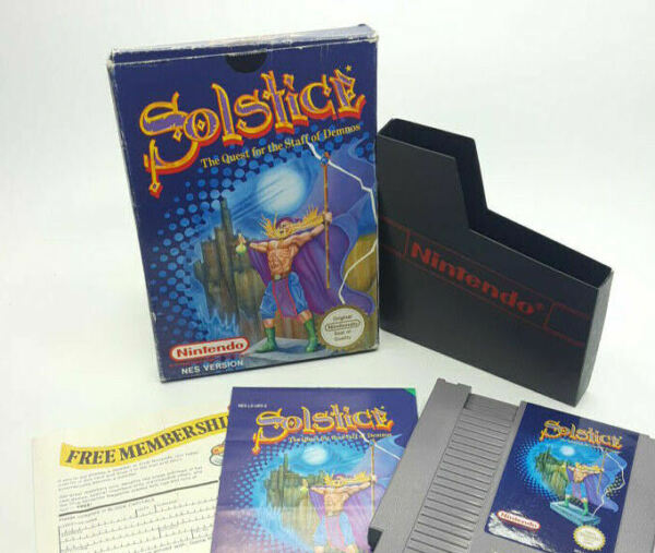 SOLSTICE THE QUEST FOR THE STAFF OF DEMNOS NINTENDO NES PAL - VGC COMPLETE!