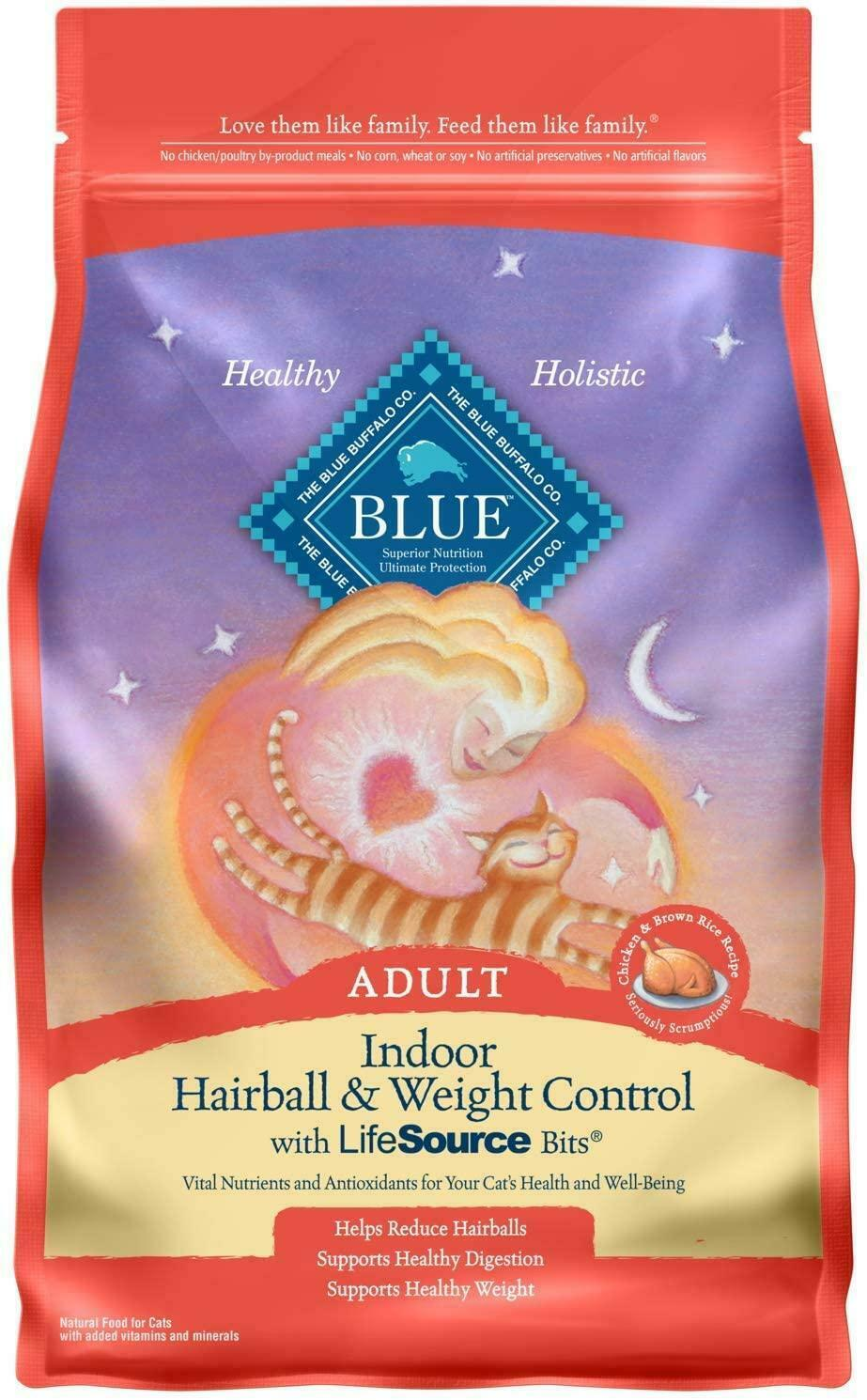 Indoor Hairball & Weight Control Natural Adult Dry Cat Food