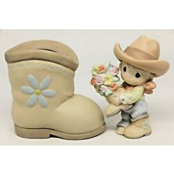 Precious Moments YOU BET YOUR BOOTS I LOVE YOU 120121 / Set of 2 - Cowgirl Boot