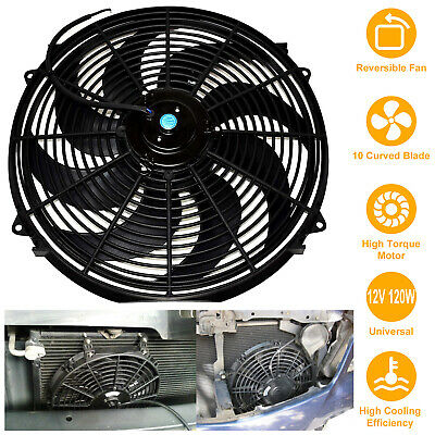 16 inch Electric Radiator Cooling Fan 12V Relay Thermostat Kit W/ Mounting Kit