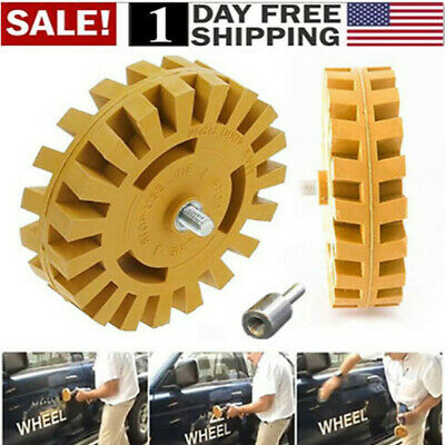 Decal Removal Eraser Wheel w/ Power Drill Arbor Adapter 4