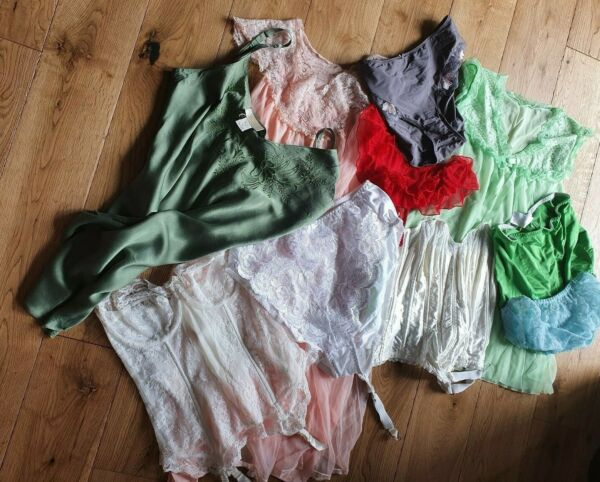 Job Lot 9 Items Baby Doll Camisole Nightie Basques Repair Rework To Clear T25