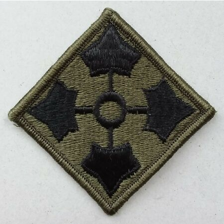 img-US ARMY PATCH 4th Infantry Division BDU Battle Dress Uniform Badge United States