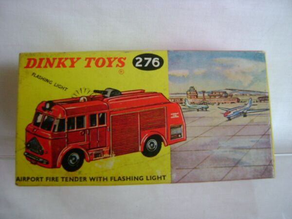 Dinky no. 276 airport fire control vehical very rare actual  working light rare