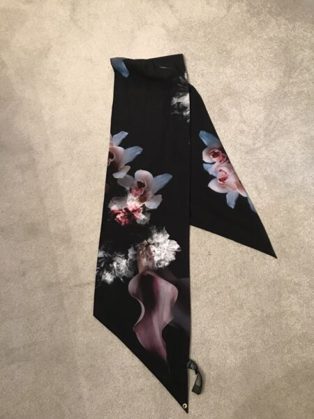 Ted Baker Orchid Print Rectangle Scarf.  Immaculate Condition