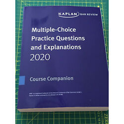 2020 - 2021 Kaplan MBE Practice Questions & Explainations Multistate Bar Exam