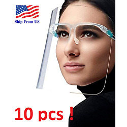 Kyпить ✅ 10 SET Face Shield Guard Mask Safety Protection With Glasses Reusable  на еВаy.соm