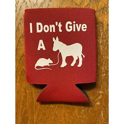 I Dont Give A Rats Ass Funny Novelty Can Cooler Koozie Huggie Red Version