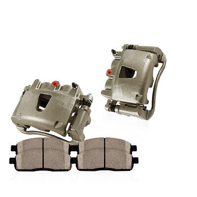 Front OE Brake Calipers Pair + Ceramic Pads For Chrysler Sebring Dodge Stratus