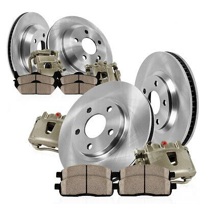 Front And Rear OE Brake Calipers & Rotors & Pads For 2013 Dodge Journey
