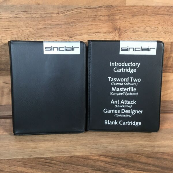 Sinclair Micro Drive Cases Only Black Storage Vintage Retro Gaming Accessories