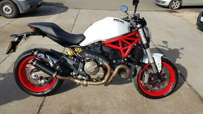 2015 15 DUCATI M821 MONSTER 821 ABS WHITE  RED 7k MILES MINT NAKED ROADTSER
