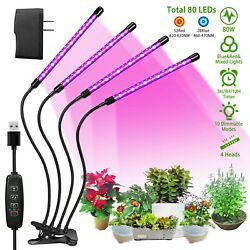 Kyпить 4 Heads LED Grow Light Plant Growing Lamp Lights for Indoor Plants Hydroponics на еВаy.соm